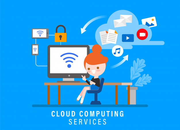 cloud-computing-services-online-security-concept-illustration-girl-with-computer-her-workspace-flat-design-style-cartoon-character_1207-971