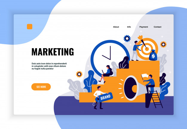 digital-marketing-page-design-with-brand-development-symbols-flat_1284-31956